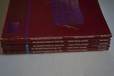 RARE Complete Greatest Songs of 1890-1990 Total of 5 Voice Piano Guitar Unmarked