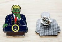 Donald Trump Pepe frog lapel pin