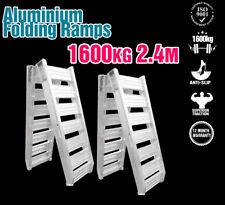 2 x Aluminium Loading Ramps Pair Folding 2.4M 1600KG Skid Steer Dingo Excavator