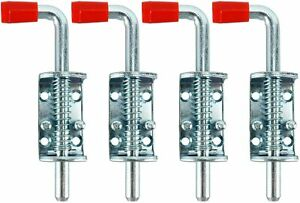 4Pack Spring Pin Latch Lock Assembly For Trailer Tail Gate Loaded Heavy Duty NEW