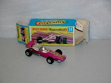 Matchbox MB34  Rare Superfast 34 Formula 1 racing car near Mint /  boîte (#MB1)