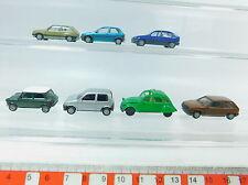 Av293-0, 5# 7x Herpa h0 turismos: Opel Corsa/Kadett + citroen 2 CV + Mini Cooper + Fiat