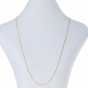 """Sterling Silver Diamond Cut Figaro Chain Necklace 20"""" - 925 Gold Plated"""