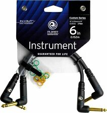 Planet Waves Custom Series Patch Cable, 2-pack, Right Angle, 6 Inches PW-PRA-205
