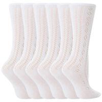 6 Paar Kinder Mädchen Weiße Baumwolle Pelerine Kniestrümpfe Socken für Schule