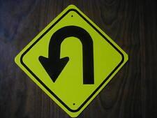 METAL MINI   U TURN   TRAFFIC SIGNS   MINIATURE SIGN