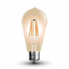 LED Filamento E27 Lampada 6W 500Lm extra bianco caldo amber oro