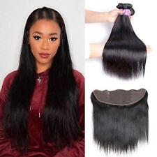 Peruvian Silky Straight Hair 13x4 Ear to Ear Lace Frontal Closure with Hair Bund