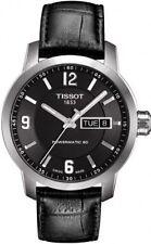 T0554301605700 Tissot Men's PRC 200 Automatic Watch Black Dial/Leather Strap NEW