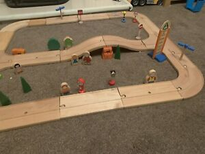 ELC Wooden Road Track Cars Trains Toy With Accessories