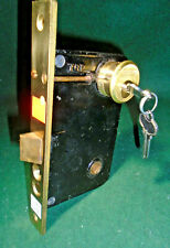 """Russwin 11248 Entry Lock New Old Stock w/Cylinder & Keys 7 3/4"""" Face Nice(11811)"""