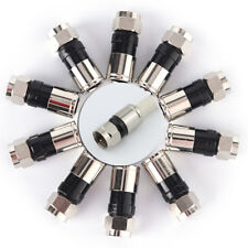 10pcs RG6 F Type Compression 2.7cm high quality Snap Seal Plug Connector IG