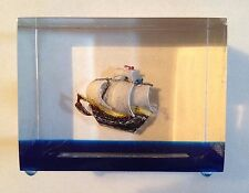 1964-65 New York World's Fair H.M.S. Bounty Paperweight (very unique)