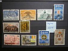 Ceylon - kl. Lot von 10 Werten, o