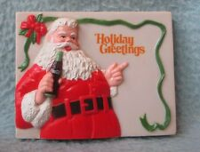 Coca Cola Santa Claus Holiday Greetings 3D Rubber Magnet Souvenir Travel Fridge