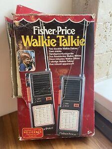 VINTAGE 1987 FISHER PRICE WALKIE TALKIE SET Boxed