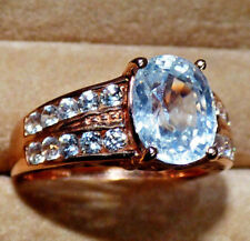 Exceptional 3.69ct Preah Vihear Zircon Rose Gold Ring