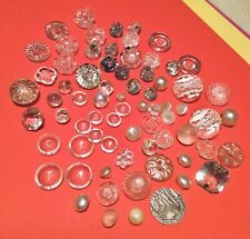 Lot Of 70 Vintage Glass Buttons. Some Sets