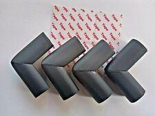 4 x Kantenschutz Ecken Schutz Baby Kind Sicherung Tisch Stuhl selbstklebend sw