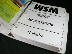 Kubota M6060 M7060 Tractor Workshop Service Repair Manual Book Catalog Binder