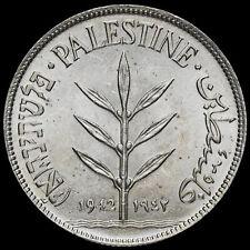 More details for palestine 1942 silver 100 mils