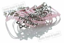 1 Weiß Davidstern-Kordel-Armbänder Kabbala Judaica Glücksbringer Schmuck