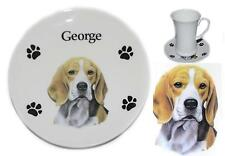 Bone China (A-Q) Dog Coasters Personalised With A Name Of Your Choice 5.5""