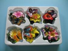 Magnet Butterfly flower six pcs refrigerator set new 3D .