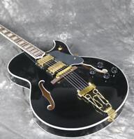 Custom Shop Byrdland Hollow Body Electric Guitar Black Color Gold Hardware Grove
