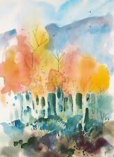 """ASPENS  original watercolor by American artist Micheal Jones"