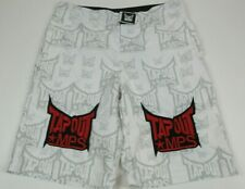 "TAPOUT MPS Workout MMA Shorts -  Men's 34"" White"