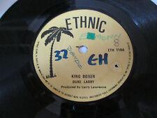 """Duke Larry – King Boxer / Version  - 7""""   Ethnic – ETH 110"""