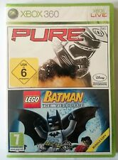 Xbox 360 PURE + LEGO BATMAN BUNDLE DE 2 JUEGOS