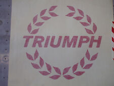 TRIUMPH TR7 spider RED wreath front decal