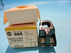 NEW ALLEN-BRADLEY 895-A1 N.O. CONTACT BLOCK SIZE 1 60 AMP