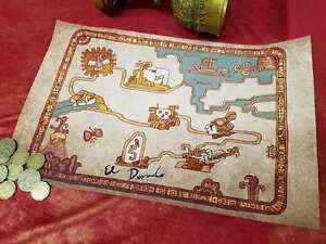Road To El Dorado Map – Cloth Map Scroll Of Tulio And Miguel