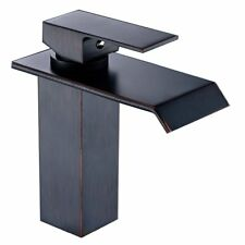 FLG Oil Rubbed Bronze Single Handle Waterfall Bathroom Vanity Sink Faucet NEW US