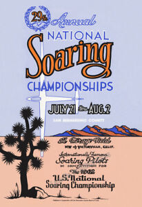 National Soaring Championships 1962 El Mirage Dry Lake - Poster