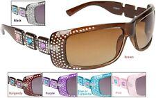 Womens Fashion Designer Celebrity Sunglasses Faux Rhinestone Technique Gemstones