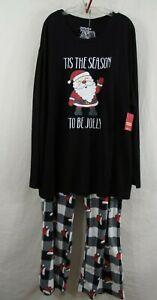Santa Claus JAMMIES for FAMILIES Men 3XLT 3XB Pajama Shirt & Pants Set CHRISTMAS