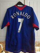 Manchester United Football Shirt Ronaldo & 7 2005 away Jersey Medium mens