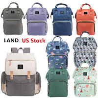 For LAND Mommy Baby Diaper Bag Large Capacity Mom Backpack Baby Nappy Tote Bag