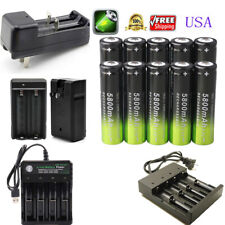 USA SKYWOLFEYE 18650 Battery Li-ion 3.7V Rechargeable Batteries For flashlight