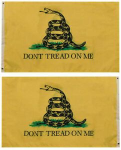 Gadsden DTOM Don't Tread on Me Yellow Snake 100D Double Sided 6x10 6'x10' Flag
