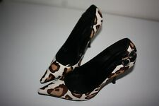 Ladies gorgeous court stiletto shoes animal print Karen Millen size 39/6