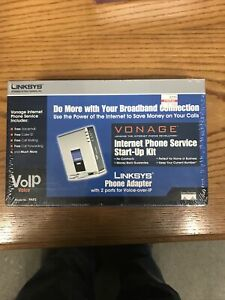 Linksys PAP2 Phone Adapter VoIP Vonage Internet Phone Service Start-Up Kit