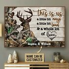 Personalized Deer Couple Camo This Is Us Poster & Canvas Wall Art Decor