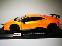 Lamborghini Huracan performante METALIC ORANGE ! SEE VIDEO Maisto 1:18 Scale CAR