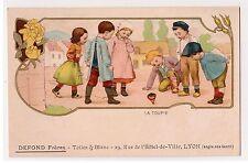 CPA Illustrateur LA TOUPIE - JOUET TOY WHIRLIGIG - PUBLICITE DEFOND Frères LYON