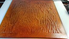 ARTISTIC ART DECO STAIN GLASS TILE ARCHITECTURAL SLAB AMBER PRESSED TEXTURED 14""